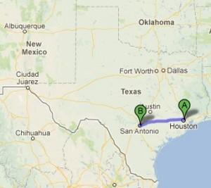 Marathon Man Drive to San Antonio