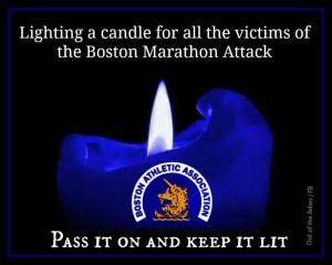 2013 Boston Marathon Candle