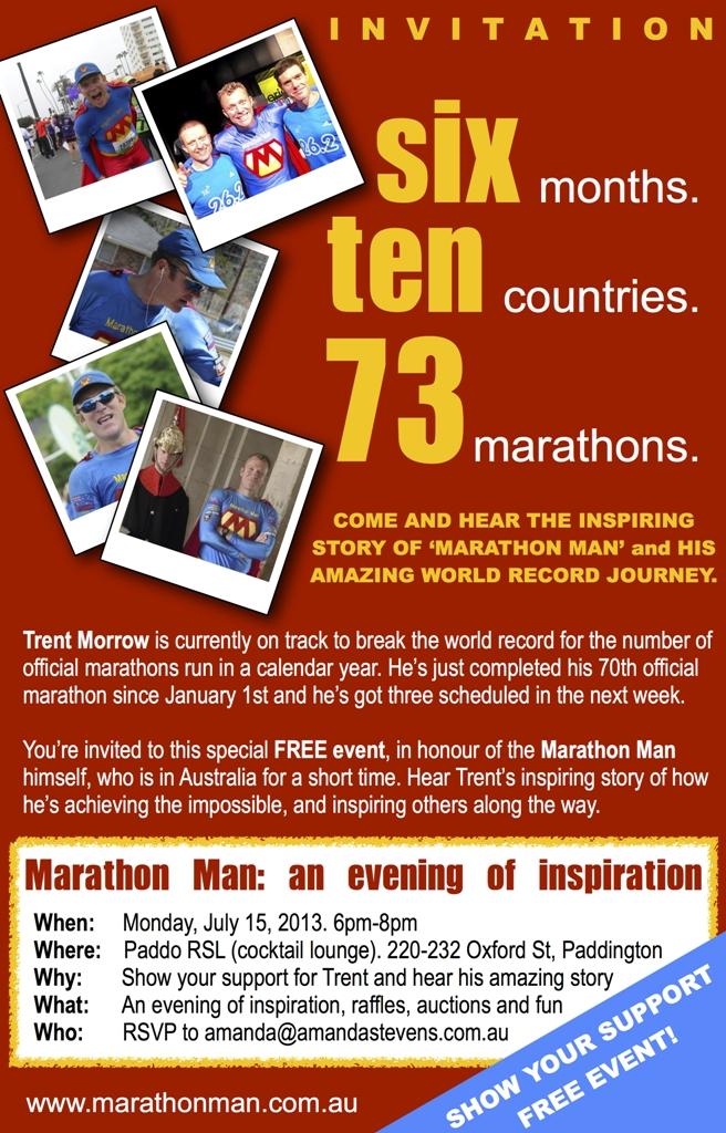 Marathon Man Invitation