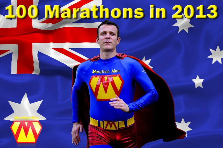 Australia's Marathon Man Trent Morrow chasing the World Record for the most marathons in twelve months; marathonman; running man; hall of fame city challenge marathon